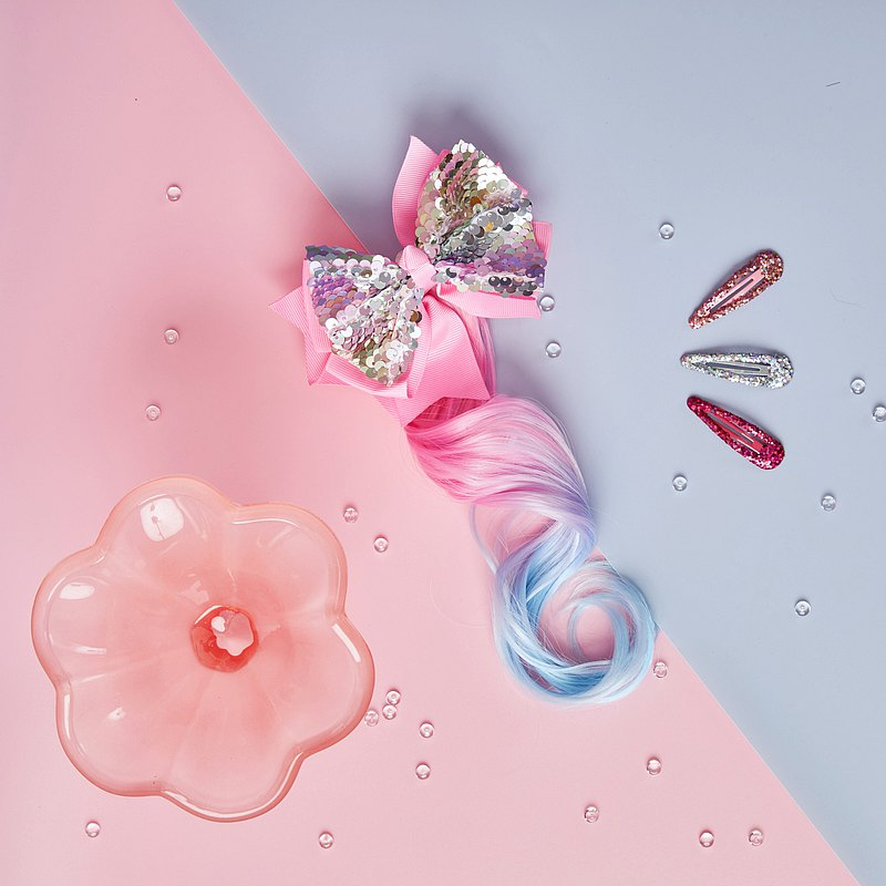 粉晶晶捲髮夾組