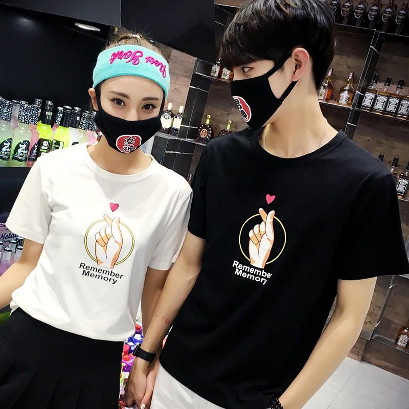 特價批發 2018新款夏季短袖韓版情侶裝男女T恤BF風潮愛心手勢情侶T恤班服潮
