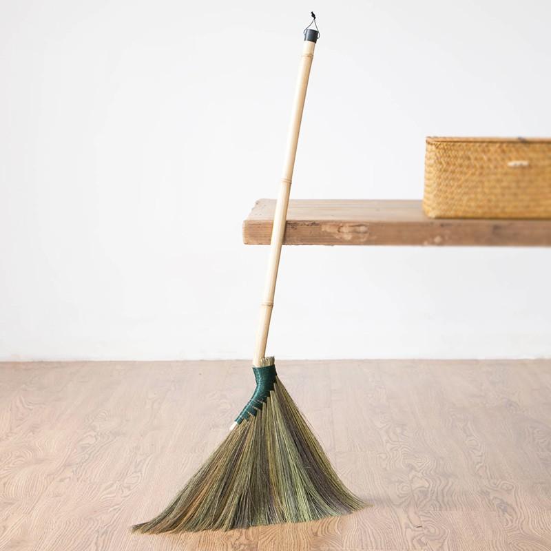 羽羽♥藝之初 芒草掃把單個軟毛掃帚掃地笤帚 掃木地板掃帚掃毛發不易粘