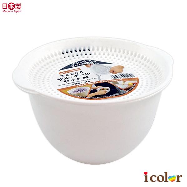 日本製 便利圓型調理濾籃組(M)