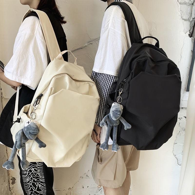 潮牌大容量雙肩包2020年新款書包女韓版高中大學生百搭旅行背包男
