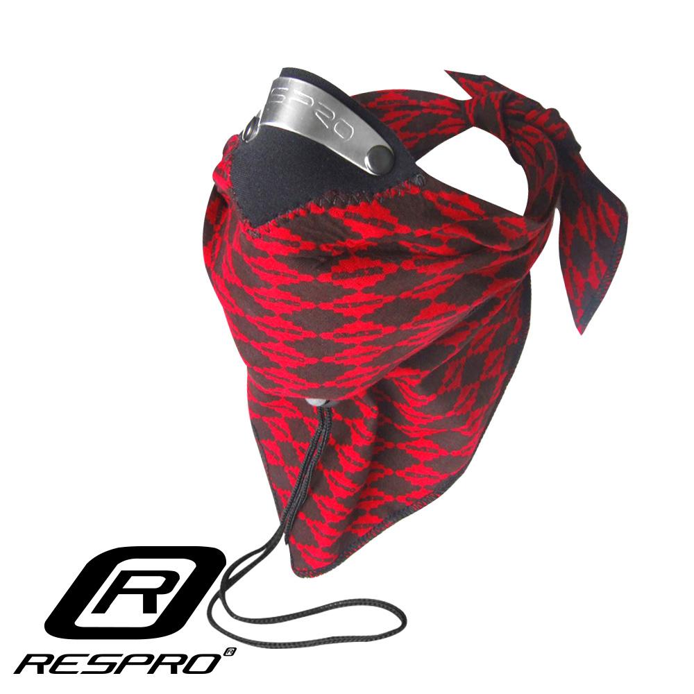 英國 RESPRO BANDIT 過濾PM2.5領巾式口罩( 紅菱格 )