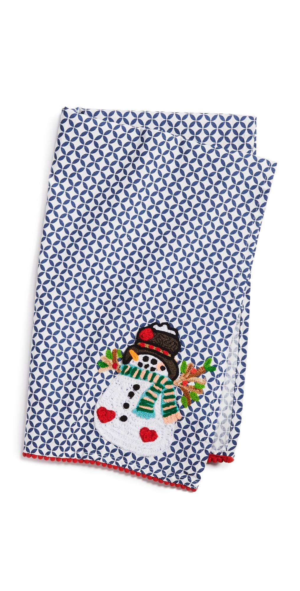 Shopbop @Home Happy Happy Snowman Tea Towel