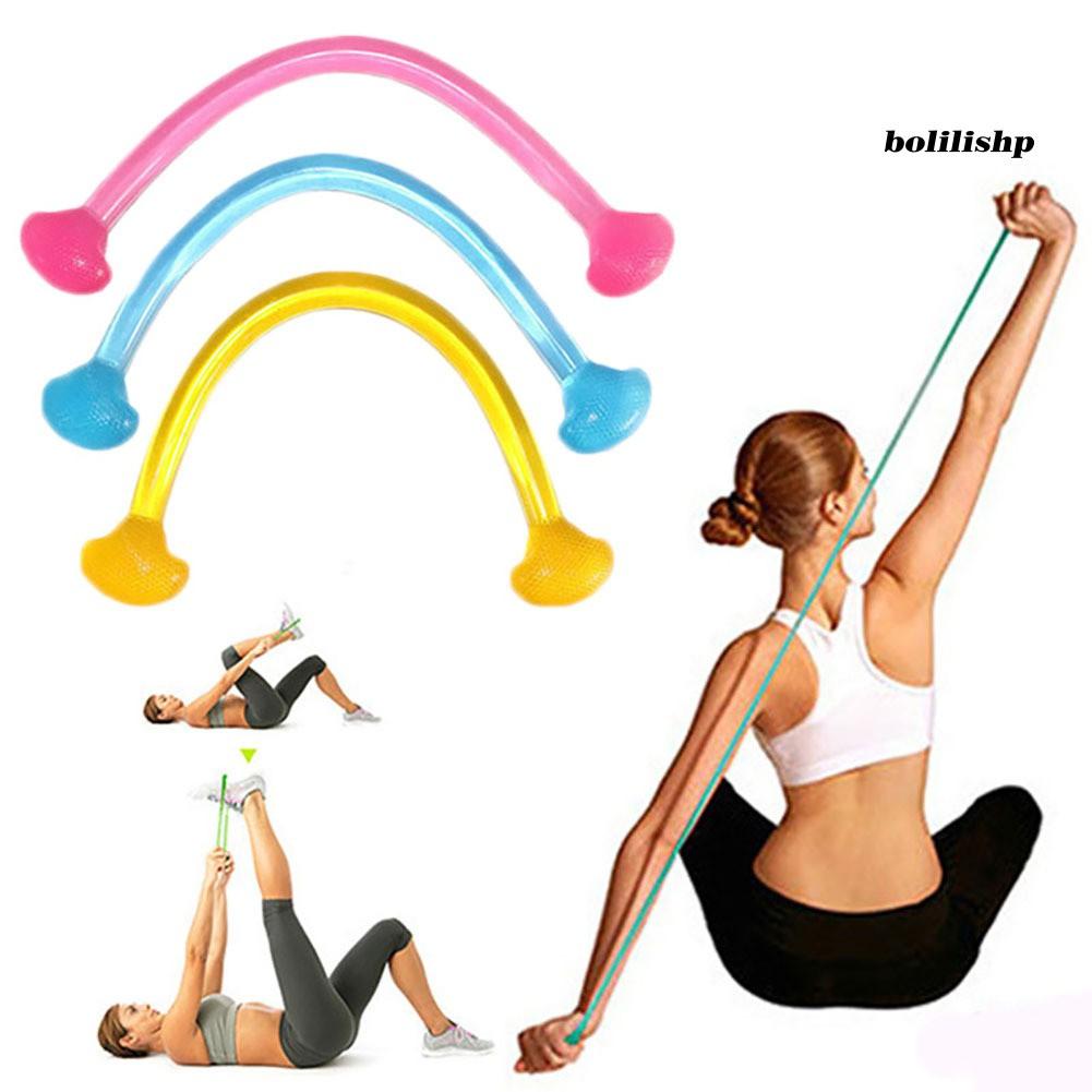 Boli _ 瑜伽普拉提彈性拉繩健身房健身鍛煉矽膠阻力帶