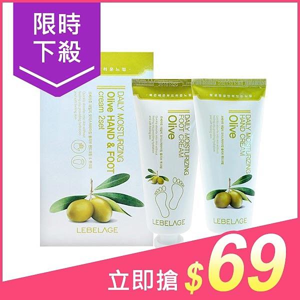 韓國 LEBELAGE 橄欖保濕手足霜組合(100mlx2)【小三美日】$89