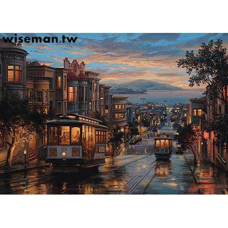 創意拼圖|預購進口拼圖玩具 Perre 1500片Lushpin舊金山纜車天堂油畫待定