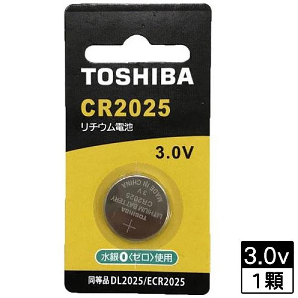 東芝 鈕扣電池CR2025-1入卡【愛買】