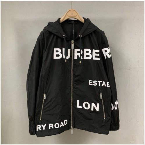 BURBERRY 19FW Horseferry 排字LOGO 黑色 連帽外套 夾克