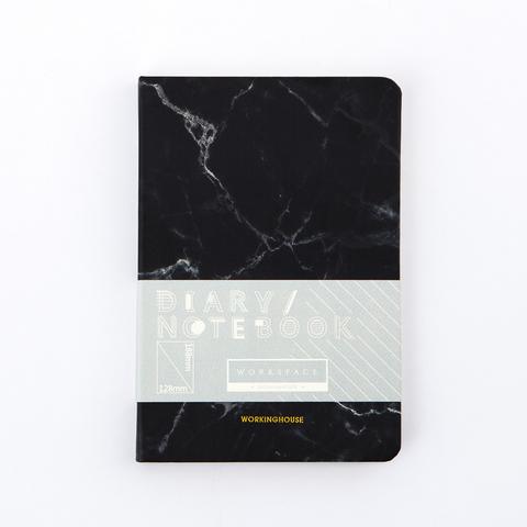 大理石紋通用手帳本-沉穩黑