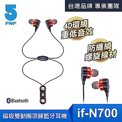 IFIVE-4D環繞式磁吸項鍊藍牙美聲耳機(N700)