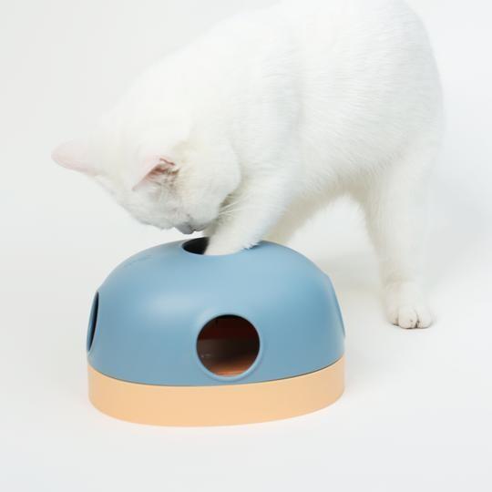 makesure麻薯洞洞樂貓玩具轉盤球自嗨逗貓三合一