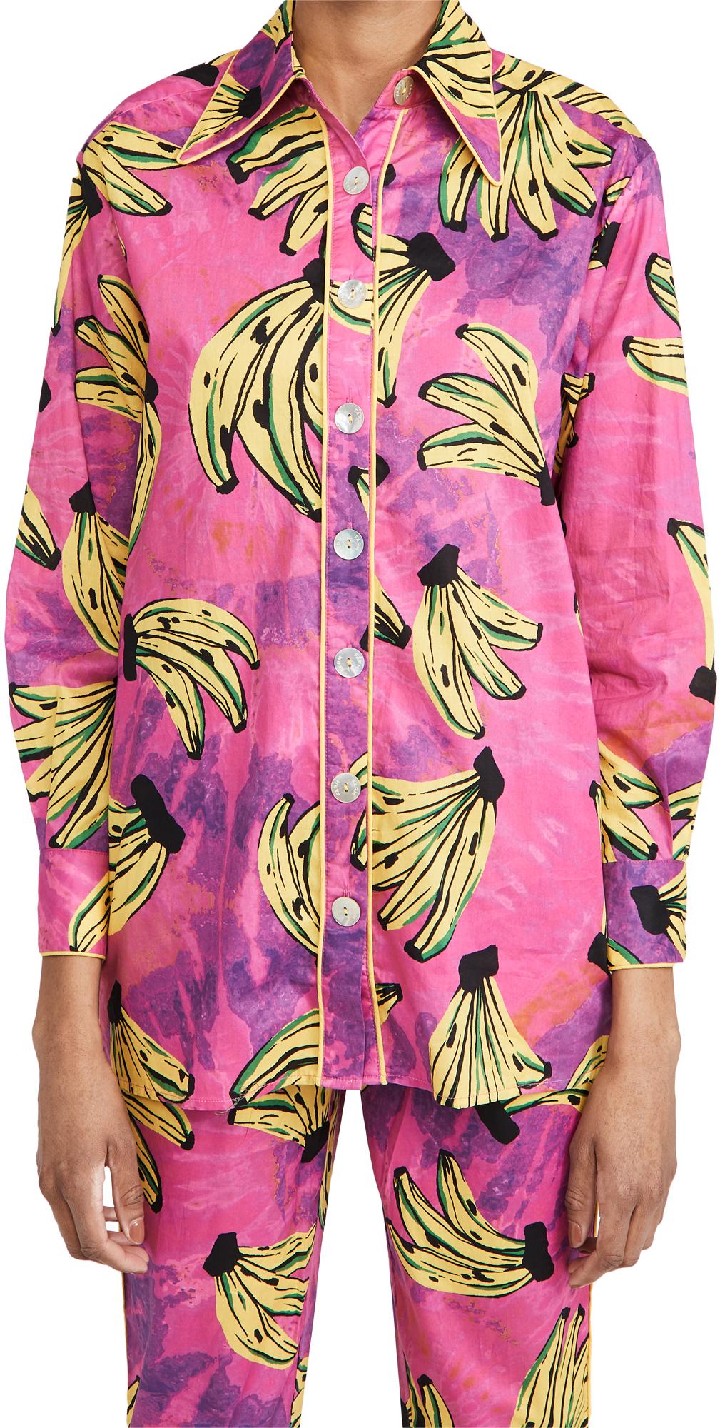 FARM Rio Tie Dye Bananas Pajama Shirt