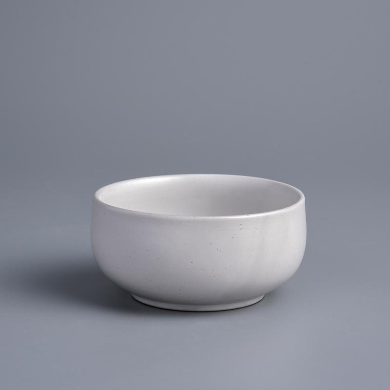 日式 柴燒手作 10cm 陶瓷圓碗|初雪白|單品