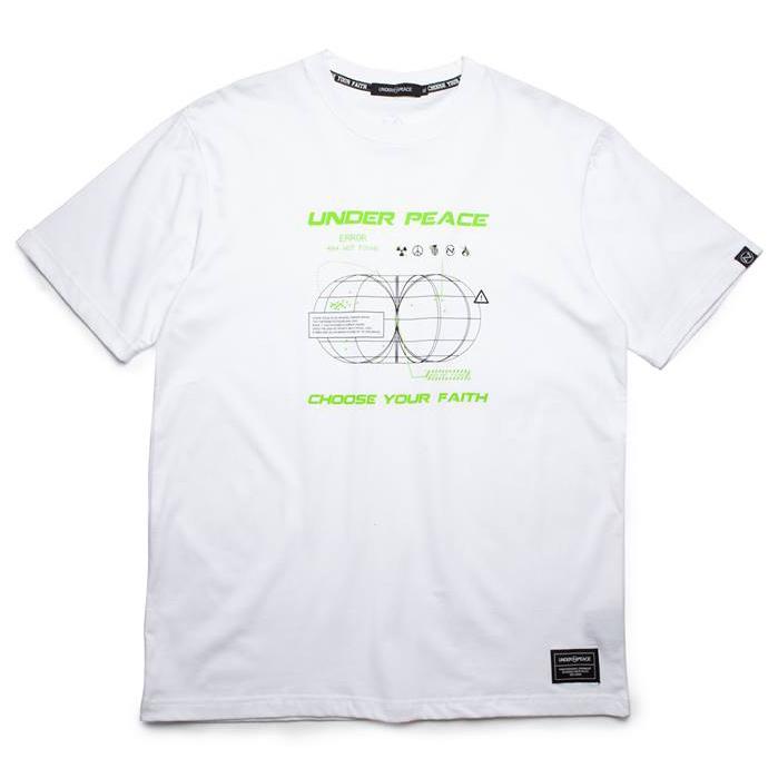 UNDER PEACE - 19AW ERROR / TEE 斷訊 短T (白色)