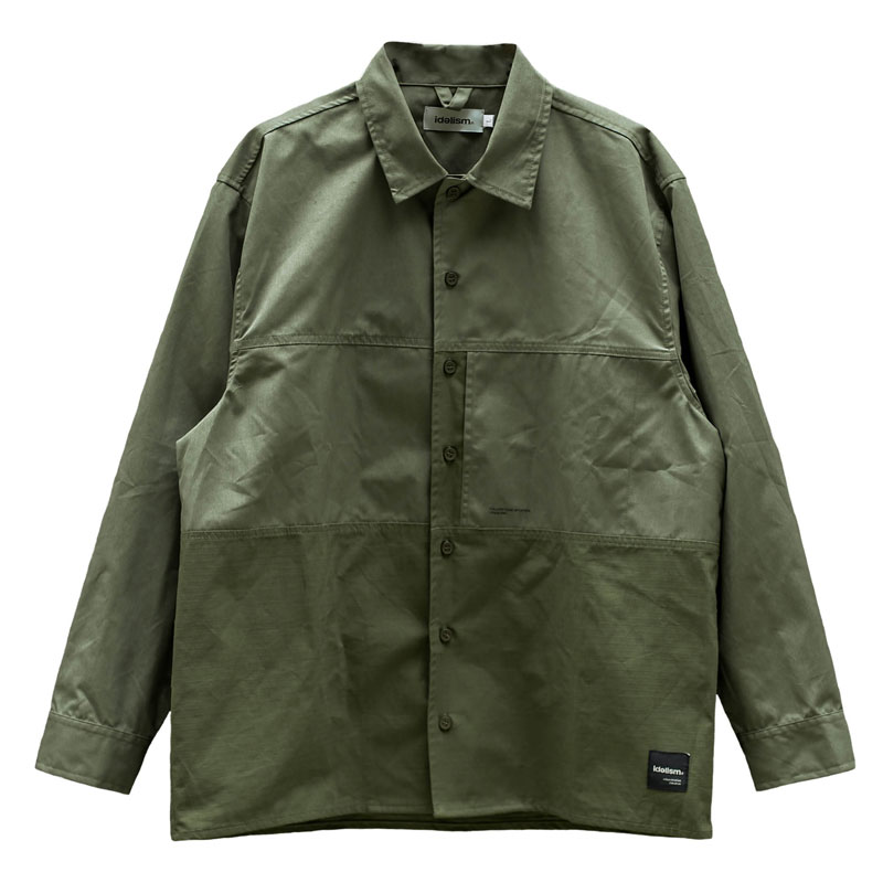 IDEALISM - ID20010-GN Military Shirt 軍裝襯衫 (軍綠)
