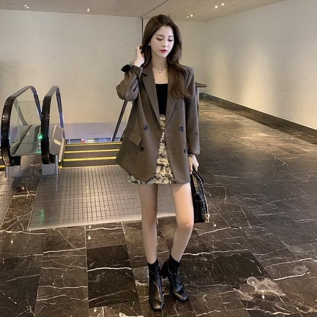 FOFU-修身網紅氣質小西裝女韓版英倫風炸街高級感西裝外套【08SG04729】