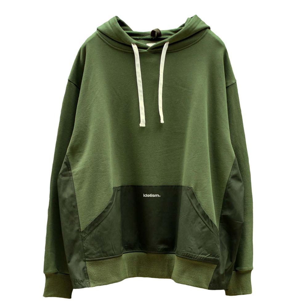 IDEALISM - ID20009-GN Split Hoodie 拼接 帽T (綠色)