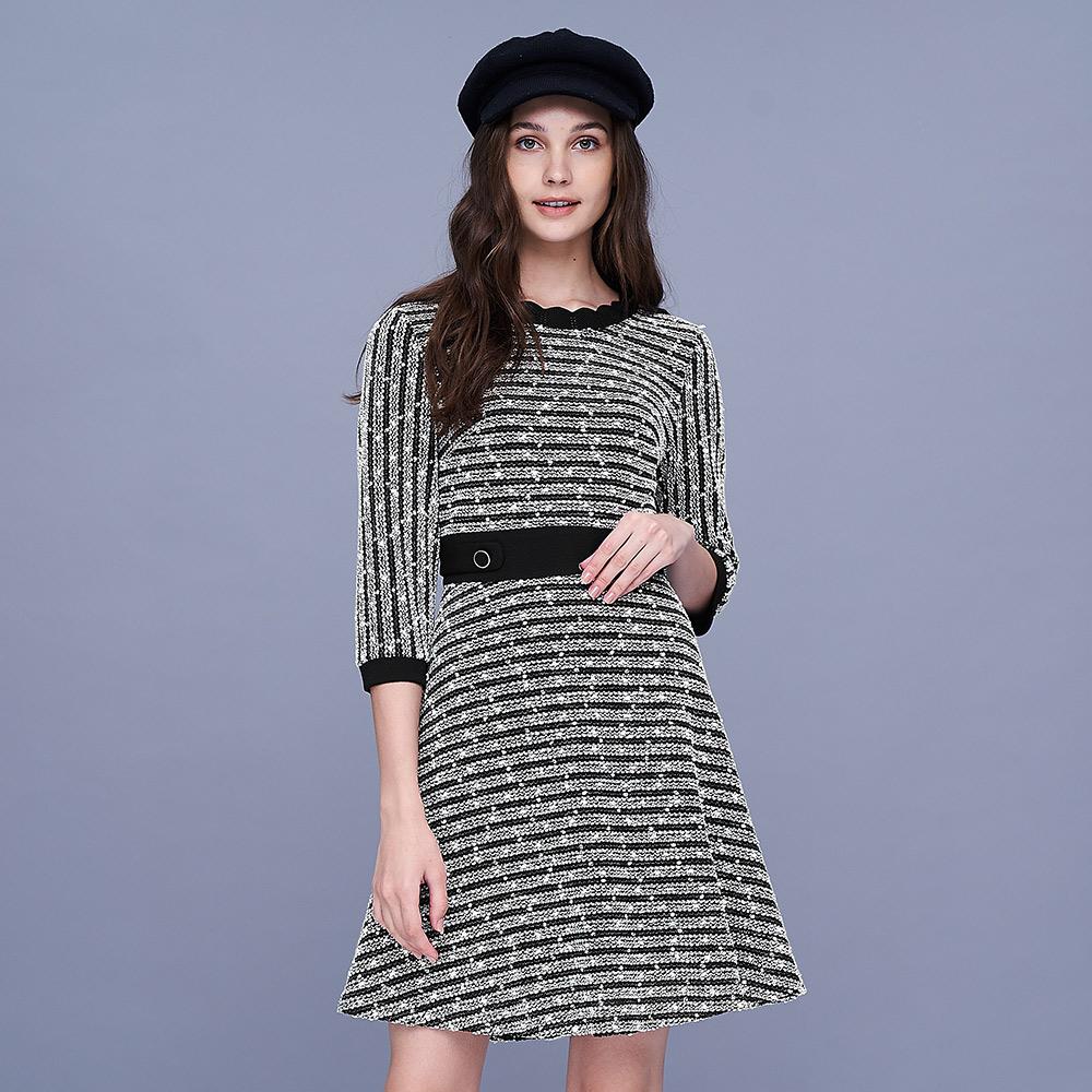 ILEY伊蕾 典雅小香風收腰洋裝(黑)956734