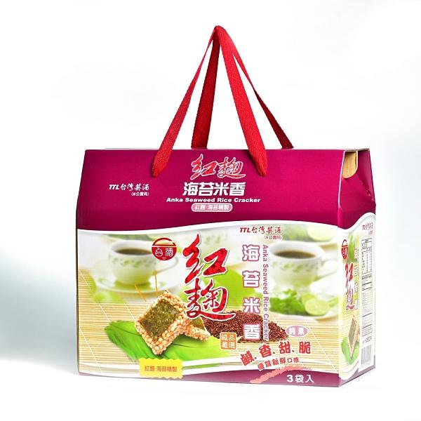 【台酒TTL】紅麴海苔米香禮盒(全素)