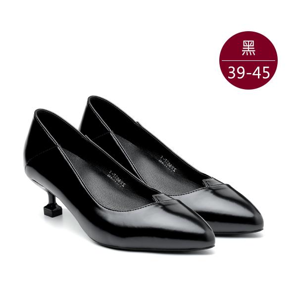 中大尺碼女鞋0403【ZX9037-1 】新尖頭柔軟厚鞋墊貓跟鞋/高跟鞋 39-45碼 172巷鞋舖(預購)