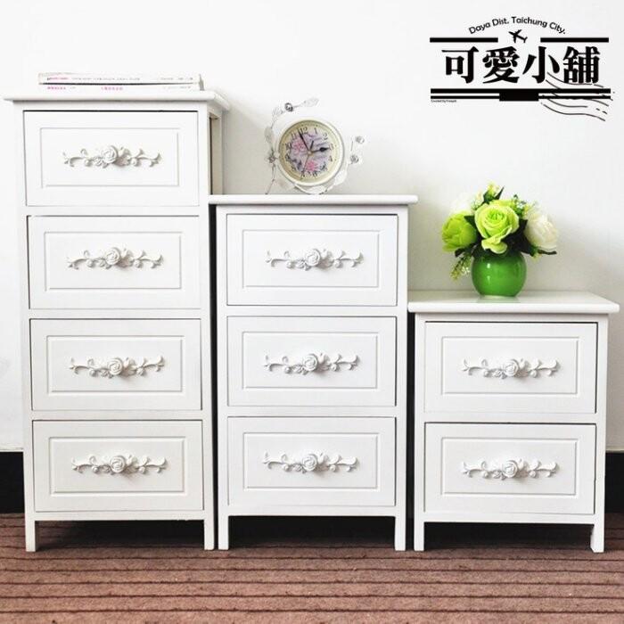 台中 可愛小舖古典簡約刷白抽櫃(三種尺寸)四抽三抽二抽櫃斗櫃拉櫃收納櫃