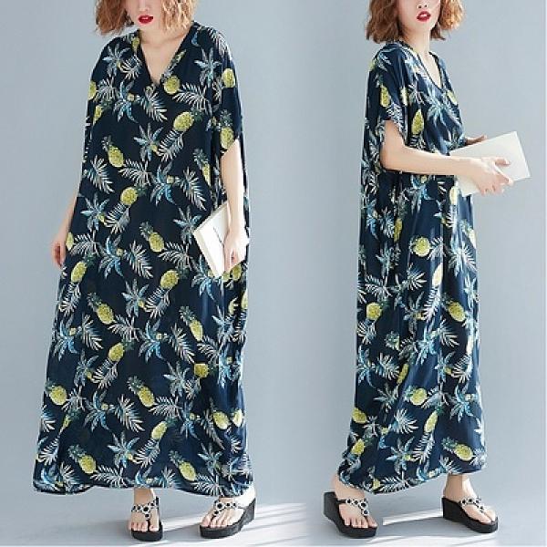 胖妹妹洋裝~大碼連身裙~8601# 度假風棉質長裙 胖MM200斤可穿MB151A衣時尚