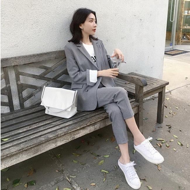 FOFU-網紅小西裝外套女季韓版休閒英倫風西裝上衣氣質職業套裝【08SG04726】