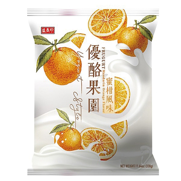 盛香珍優酪果園(蜜柑風味)330G【愛買】