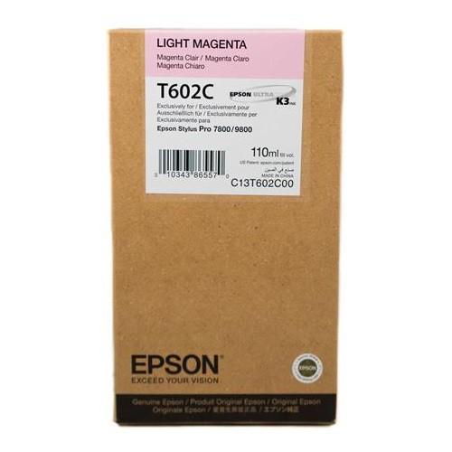 EPSON 愛普生 C13T602C00 淡紅色墨水匣 Pro7800/9800 用(110ML) 大圖輸出機
