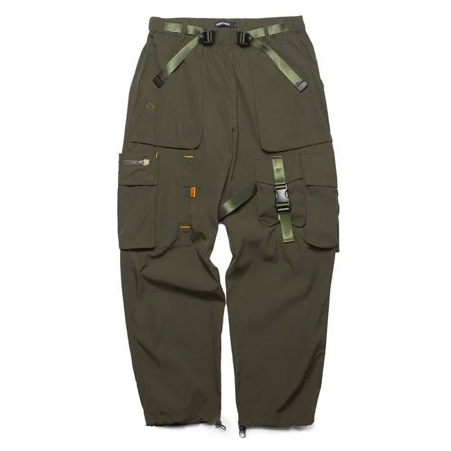 UNDER PEACE - 20SS NUMEROUS / WIDE CARGO PANTS 多口袋軍事工作褲 (軍綠)