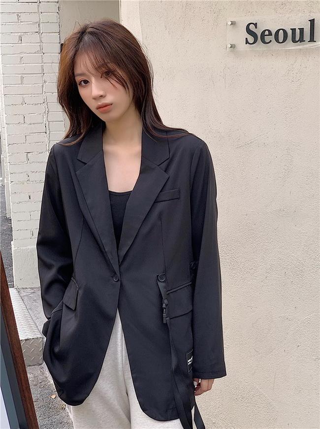 FOFU-小西裝外套女韓版長袖時尚個性百搭寬鬆西裝【08SG04921】