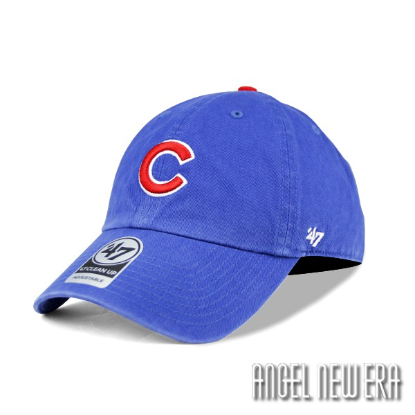 【47 brand】MLB 芝加哥 小熊 寶藍色 水洗軟版 復古 老帽 古著 穿搭【ANGEL NEW ERA】