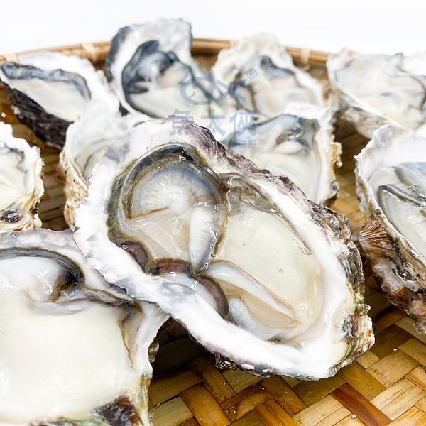 1H3B【魚大俠】BC058韓國半殼牡蠣(10顆/包)#不可生食