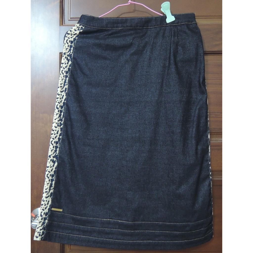 【二手,8成新】KERAIA(腰平測33公分)全黑,兩側及後面口袋豹紋