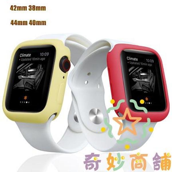 手表外殼防摔糖果小清新apple watch保護套蘋果硅膠套【奇妙商鋪】