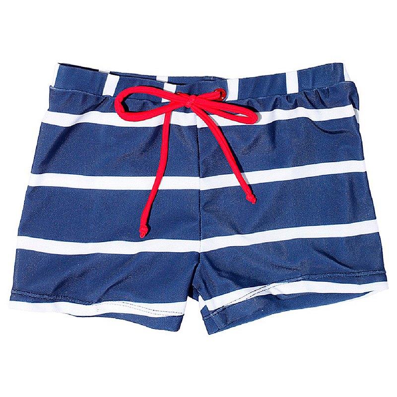 【北歐童裝】瑞典兒童泳褲綠5歲至6歲 深藍/白