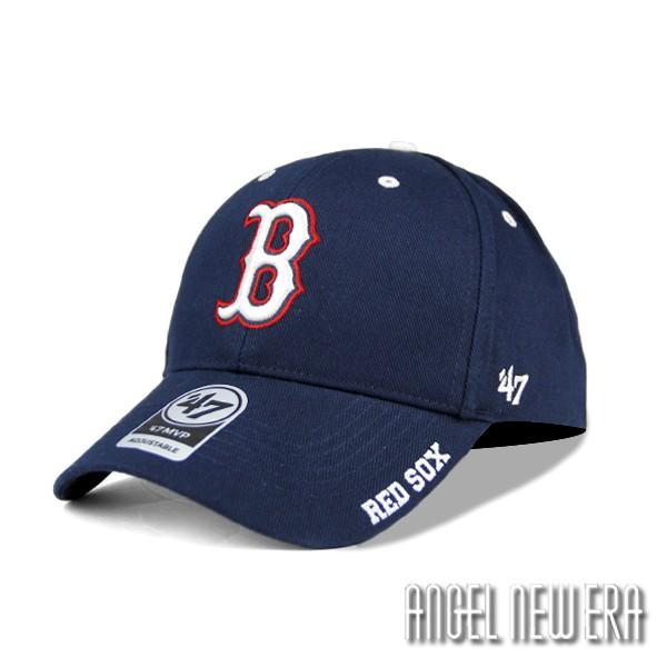 【47 brand】MLB 波士頓 紅襪 丈青色 硬版 復古 老帽 古著 穿搭【ANGEL NEW ERA】
