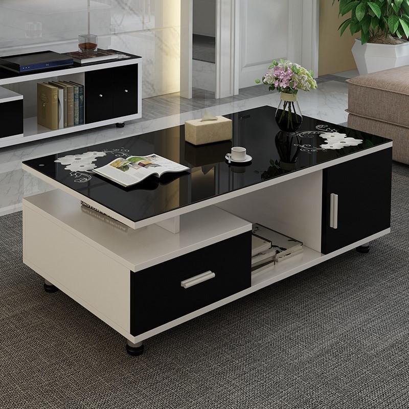 茶幾客廳家用小柜子茶具多功能組合桌子玻璃套裝簡約現代茶桌茶臺方桌/圓桌/梳妝桌/電腦桌