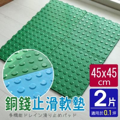 【AD德瑞森】QQ彈性軟墊/防滑板/止滑板(2片裝-適用0.1坪)