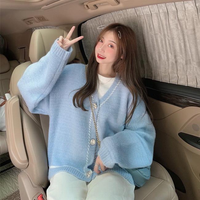 FOFU-溫柔風罩衫毛衣女寬鬆氣質小香風針織外套【08SG04624】