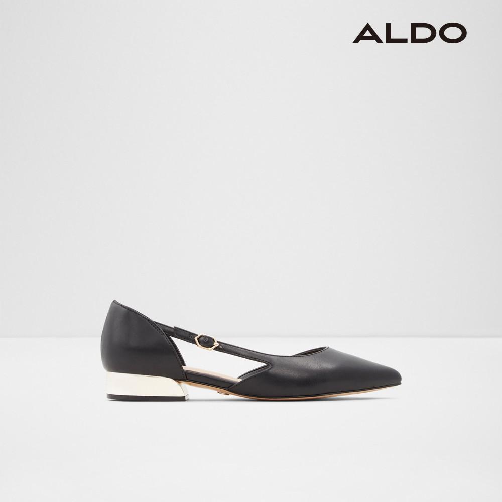 優雅扣帶涼跟鞋-女(黑色)