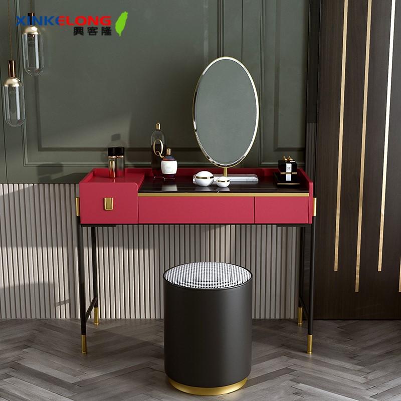 興客隆 化妝臺 輕奢 梳妝臺 臥室 現代 簡約 化妝 桌子 北歐 ins風 巖板 傢俱