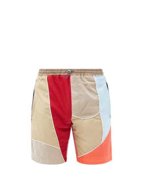 Ahluwalia - Tom Patchwork Upcycled-shell Shorts - Mens - Multi