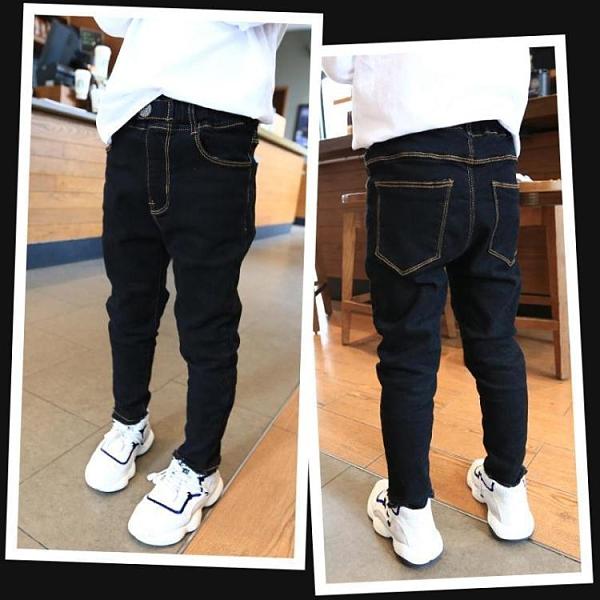 男童牛仔褲2021春裝新款彈力修身小腳褲兒童韓版春秋款洋氣單 快速出貨
