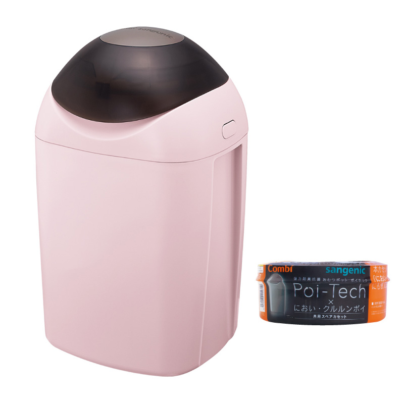 [福利品出清] Poi-Tech 尿布處理器_玫瑰粉+膠捲x1