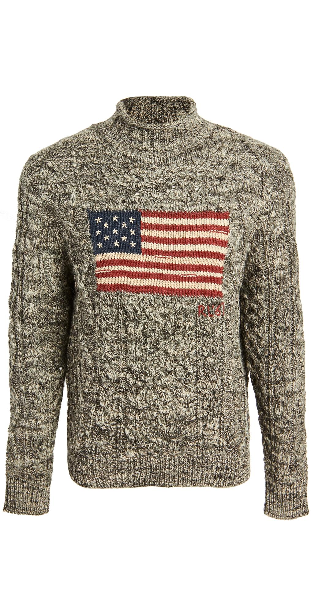 Polo Ralph Lauren Ragg Wool Flag Sweater