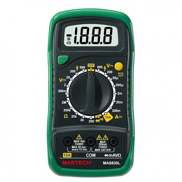 Mastech 邁世 MAS830L 高CP 專業數字萬用電表