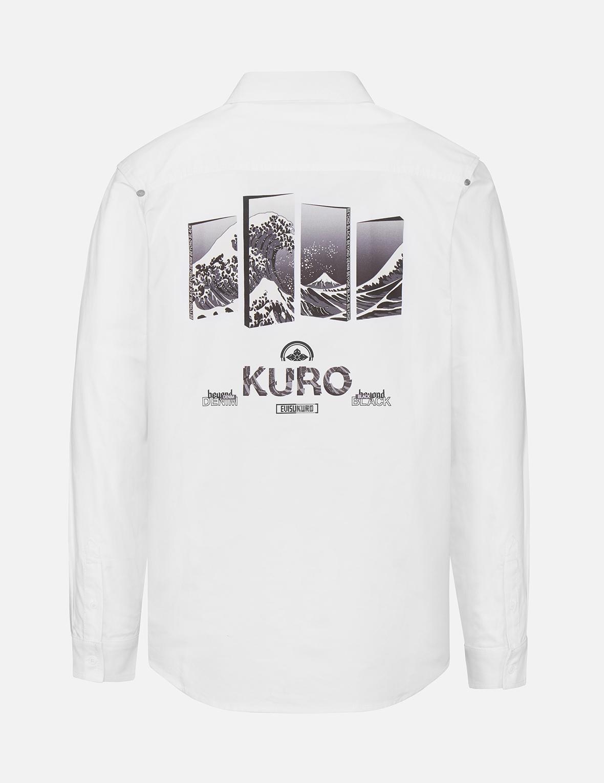Ukiyo-E 3D Panel Print Oxford Shirt