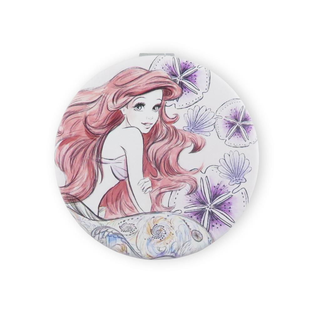 Disney迪士尼公主小圓鏡_素描美人魚