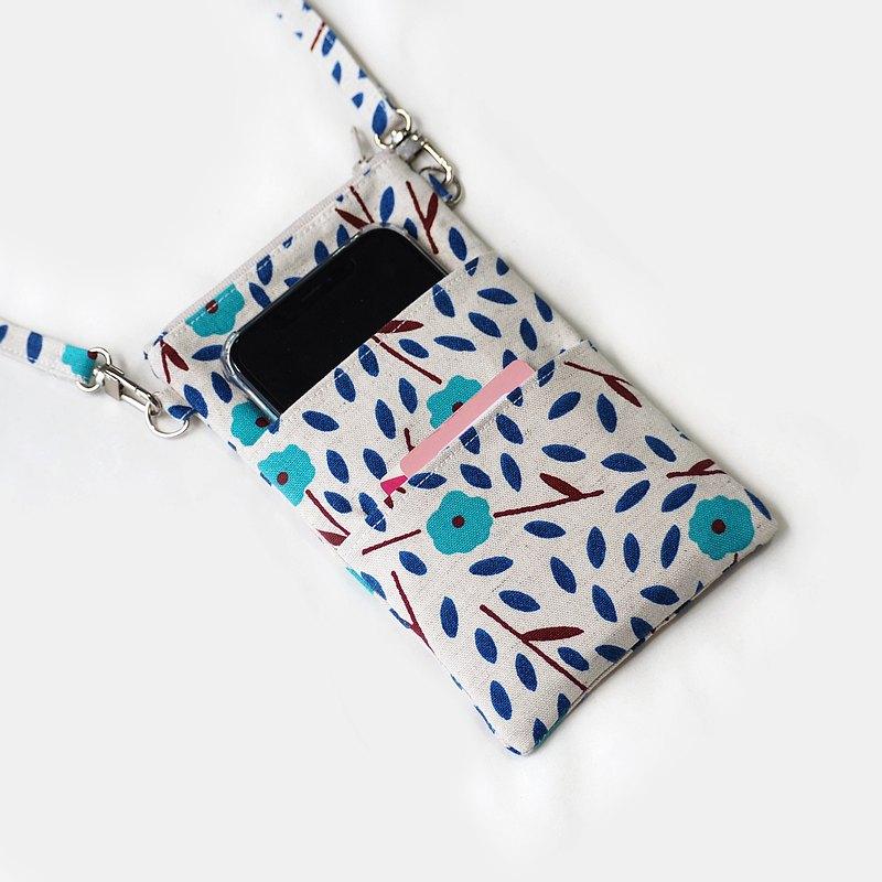 錢包和卡夾 - 春花系列 11x18.5 厘米。